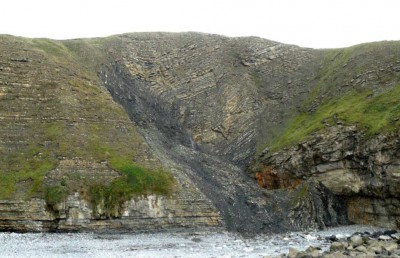 Folding and Faulting in Jurassic Limestone
