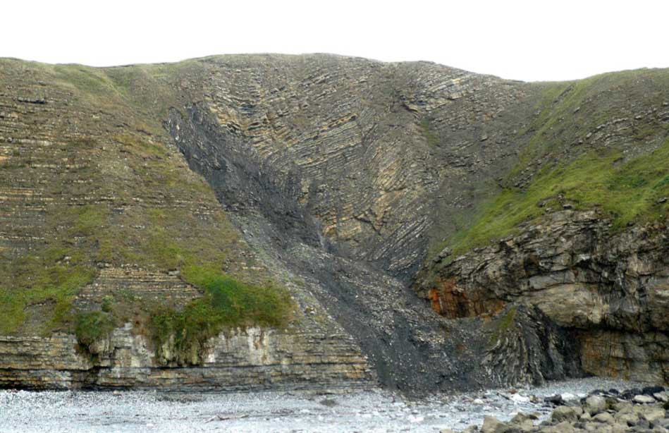 folding and faulting in jurassic limestone geoscience wales